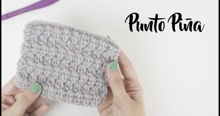 Cómo hacer punto piña crochet - Muestras de puntos ganchillo