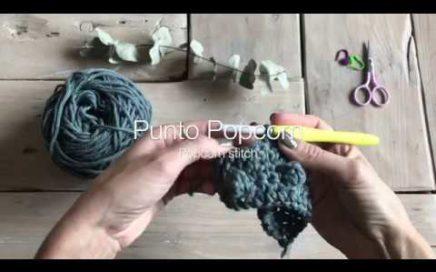 Como tejer Punto Popcorn en crochet