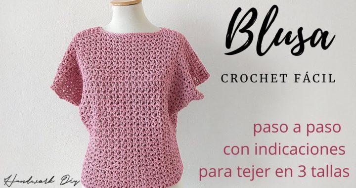 Cómo tejer blusa a crochet fácil | 3 Tallas