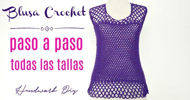 Cómo tejer blusa a crochet fácil en todas las tallas | Handwork Diy