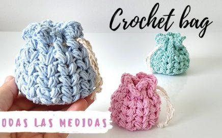 Cómo tejer bolsa a crochet en todas las medidas | Punto puff ganchillo