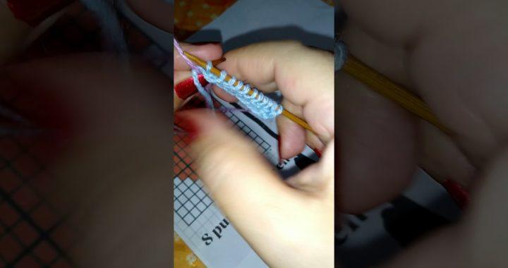 Cómo tejer patrones de punto a dos agujas