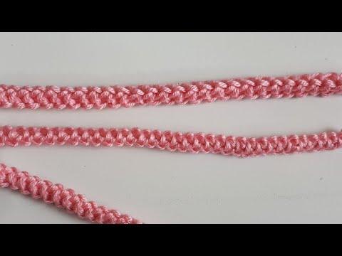 Cordon Rumano a crochet #2 Paso A Paso Facil Y Rapido / Romanian lace to crochet