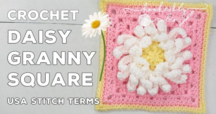 Crochet 3D Daisy Flower Granny Square 🌼 | Unicorn Dreams Blanket CAL | Crochet Square Tutorial