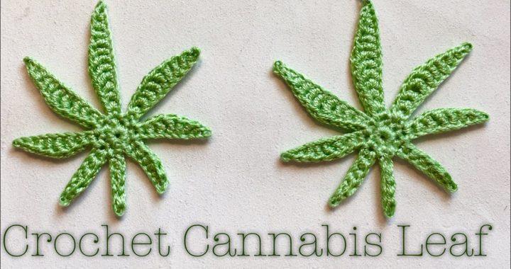 Crochet Cannabis Leaf
