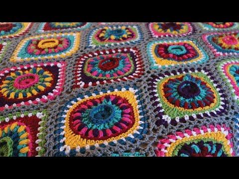 Crochet Christmas Ornament Blanket Rnds 1 - 3