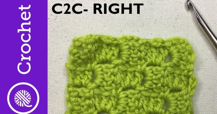 Crochet Corner to Corner (C2C) Afghan with CHART - Beginner Crochet - Lesson 8 - Right Handed (CC)