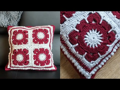 Crochet Cushion Cover | Part 1 #grannysquare