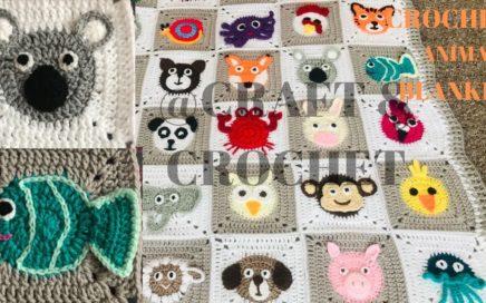 Crochet Fish/Crochet koala bear/ Crochet animal blanket/crochet baby blanket/Part:13