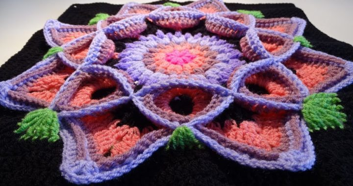 Crochet Flower 3D Granny Square - ENGLISH!!!