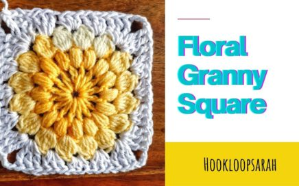 Crochet Flower Granny Square EASY explained