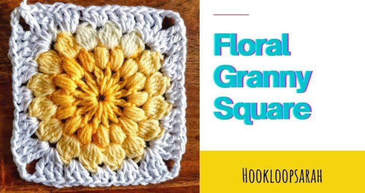 Crochet Flower Granny Square EASY explained