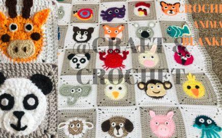 Crochet Giraffe/Crochet Panda/ Crochet animal blanket/crochet baby blanket/Part:14