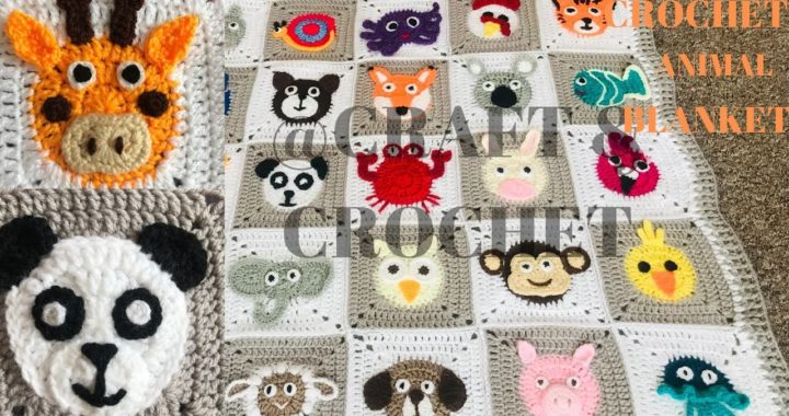 Crochet Giraffe/Crochet Panda/ Crochet animal blanket/crochet baby blanket/Part:14