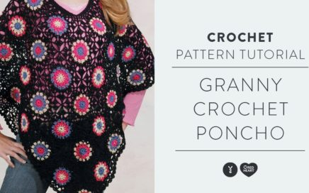 Crochet Granny Square Poncho with The Crochet Crowd