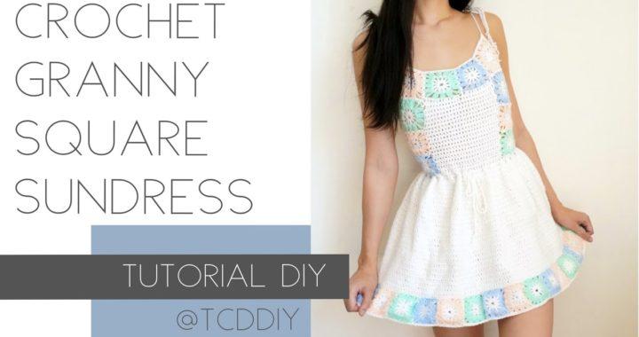 Crochet Granny Square Sundress | Tutorial DIY