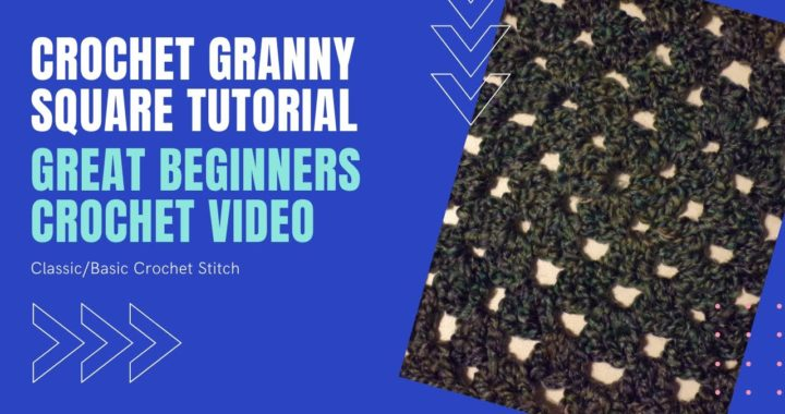 Crochet Granny Square Tutorial / Classic Crochet Stitch / Begginners Crochet Video