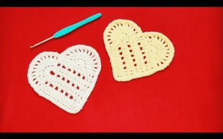 Crochet Heart Coasters Tutorial