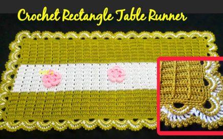 Crochet Rectangular Table Runner | English Tutorial