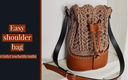 Crochet Shoulder Bag /  Beginner / Tutorial #26