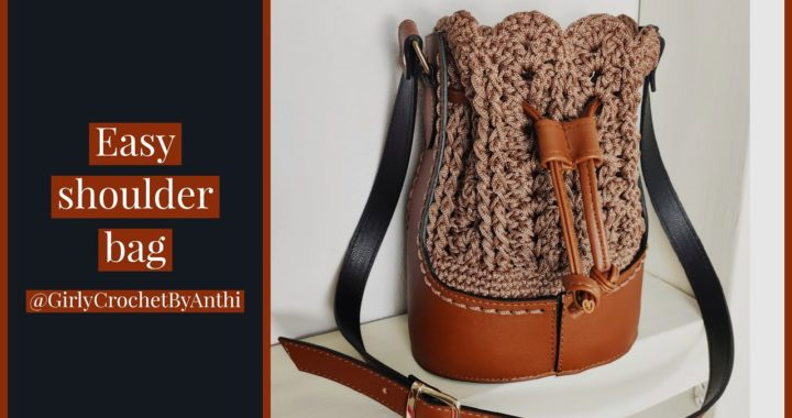 Crochet Shoulder Bag /  Beginner / Tutorial #26