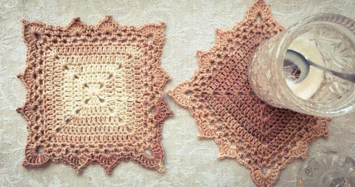 Crochet Square Coaster/Motif Tutorial