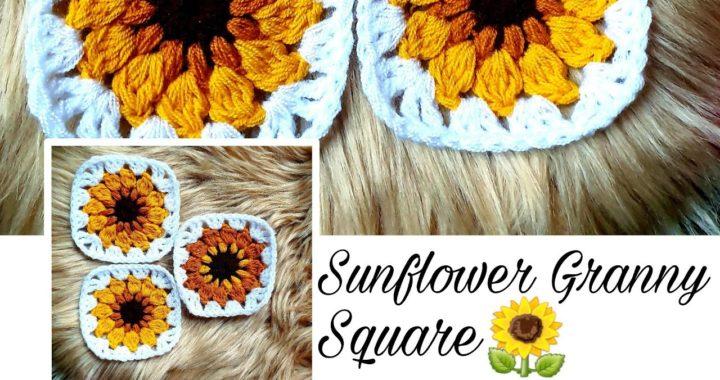 Crochet: Sunflower Granny Square | Crochet Flower | INDI DIY |