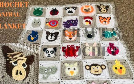 Crochet animal blanket/crochet baby blanket/crochet Horse/Part:6