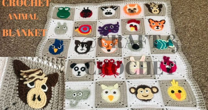 Crochet animal blanket/crochet baby blanket/crochet Horse/Part:6