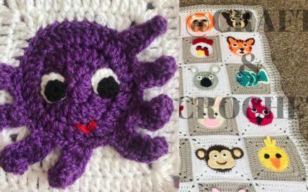 Crochet animal blanket/crochet baby blanket/crochet octopus/Part:8