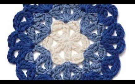 Crochet motif - Häkelmotiv - Motivo de ganchillo - 鉤針編織圖案 - Tığ işi motifi - Мотив крючком