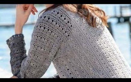 Crochet pattern for jacket -  Häkelanleitung für Strickjacke - Patrón de crochet para cardigan