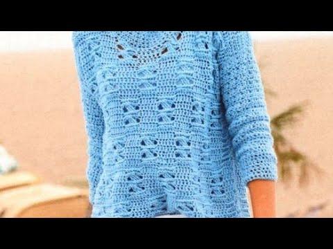 Crochet pattern for pullover - Häkelanleitung für Pullover - Узор крючком для пуловера