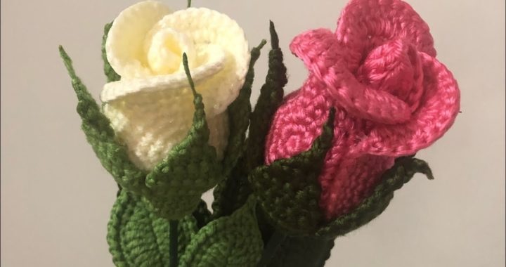 Crochet rose. How to crochet small rose. Video#2