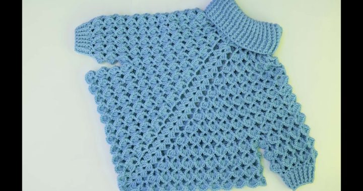 Crochet  turtleneck  poncho with sleeves  very easy all sizes