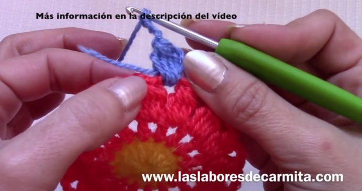 Cuadrado crochet 2 fácil y rápido para mantas y chaquetas