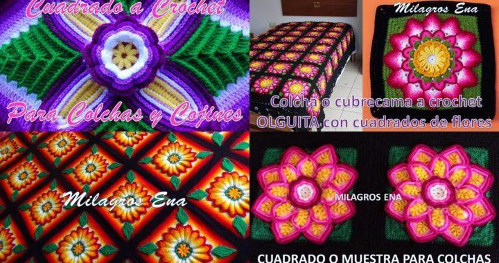 Cuadrados de colores para colchas y cojines con videos tutoriales en mi canal MILAGROS ENA