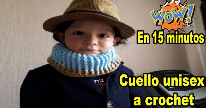 Cuello a crochet - tutorial - Cuello para hombre y mujer -   scarf sub english
