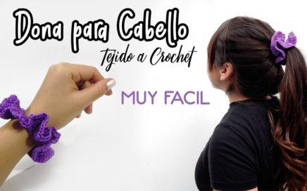 Dona para cabello TEJIDA A CROCHET - MUY FACIL