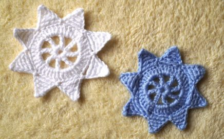 EASY Christmas ornaments CROCHET Star, How To Crochet Star Applique