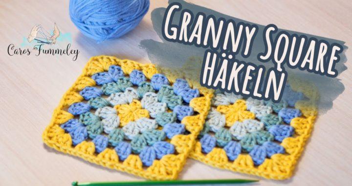 EINFACHES GRANNY HÄKELN - Häkeln lernen für Anfänger - Granny Square Häkelanleitung | Caros Fummeley