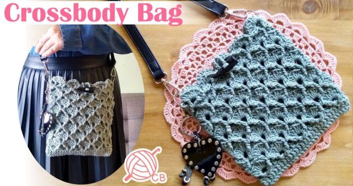 [ENG Sub] Easy Crossbody Bag - Bolso Morral fácil a Crochet - 3D Honeycomb Stitch - Punto panal