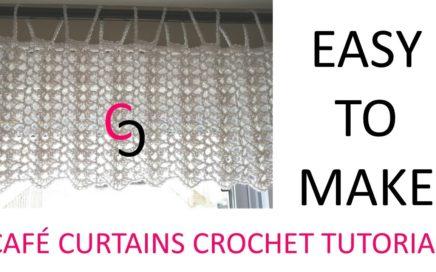 Easy Crochet Cafe Curtains - Tutorial