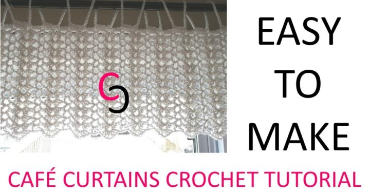 Easy Crochet Cafe Curtains - Tutorial