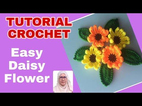 Easy Crochet Daisy Flower Tutorial #34