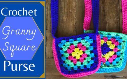 Easy Crochet Granny Square Purse