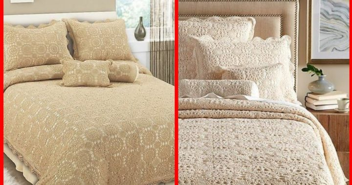 Elegant beautiful handmade crochet qureshiya bedsheets designs
