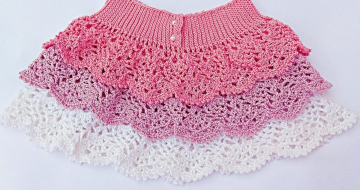 Falda de volantes de piñas a crochet. Muy fácil . Majovel crochet