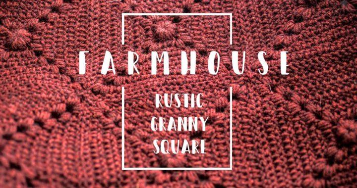 Farmhouse Rustic Granny Square Blanket | Crochet With Me