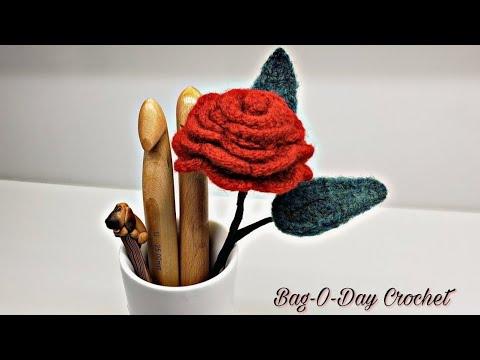 Felted Wool Project | Felted Flower | Crochet Rose